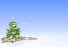 Winter landscape, cdr vector Stock Images