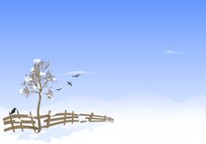 Winter landscape, cdr vector Royalty Free Stock Photos
