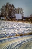 Winter landscape in Central Russia. Royalty Free Stock Photography