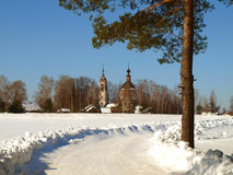 Winter in Russia. The village. Stock Image