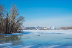 Winter landscape in central Ukraine Stock Image