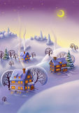 Winter landscape, Christmas background Royalty Free Stock Photography