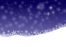 Winter landscape, Christmas background Royalty Free Stock Photo