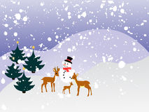 Winter landscape - christmas card Royalty Free Stock Photography