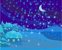Winter landscape, Christmas scene Stock Photo