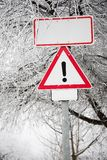 Winter landscape, city sign Stock Images