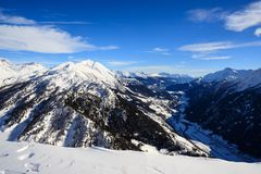 Winter landscape in the Lepontine Alps Royalty Free Stock Photography