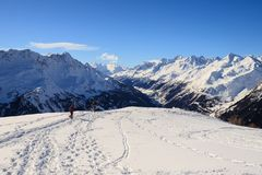 Winter landscape in the Lepontine Alps Royalty Free Stock Image