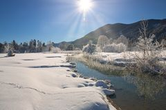 Winter landscape. Composition of nature stock image