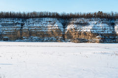 Winter landscape. Composition of nature. Royalty Free Stock Images