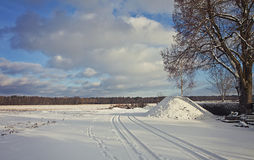 Winter landscape covered by snow Royalty Free Stock Images