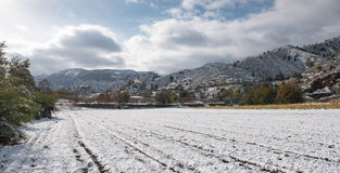 Winter Landscape, Cyprus Royalty Free Stock Image