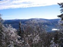 Winter landscape. In czech mountains Stock Photos