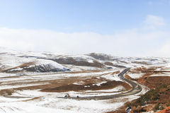 Winter landscape in Da Shan Bao mountains in Yunnan, China Royalty Free Stock Photos