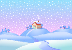 Winter landscape in day. Royalty Free Stock Photos
