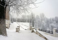 Winter landscape, december in city Stock Photos