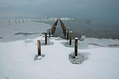 Winter Landscape in Denmark, Sjoelund near Kolding Stock Image