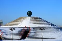 Winter landscape of Dnepropetrovsk Embankment, Ukraine. Dnepr city, Dnipropetrovsk, Dnipro Stock Images
