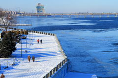 Winter landscape in Dnepropetrovsk, Ukraineю Stock Image