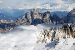 Winter landscape in the Dolomites Stock Image