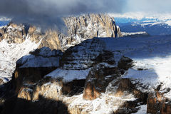 Winter landscape in the Dolomites Stock Images