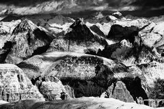 Winter landscape in the Dolomites Royalty Free Stock Photography