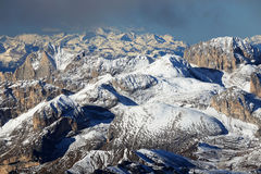 Winter landscape in the Dolomites Royalty Free Stock Photos