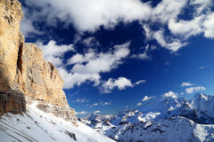 Winter landscape in the Dolomites Royalty Free Stock Images