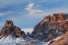 Winter landscape in the Dolomites Stock Photography