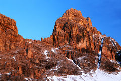 Winter landscape in the Dolomites Royalty Free Stock Image