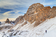 Winter landscape in the Dolomites Stock Image