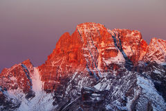 Winter landscape in the Dolomites Royalty Free Stock Photo