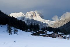 Winter Landscape in the Dolomiti Stock Images