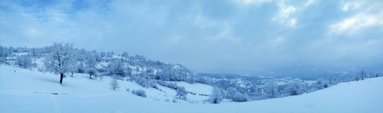 winter landscape with drama Royalty Free Stock Image