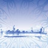 Winter landscape. Elegant background vector Stock Image