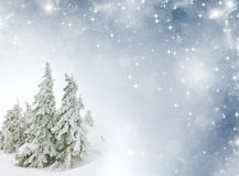 Winter landscape with empty space for text Stock Photo