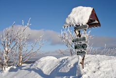 Winter landscape in the \Erzgebirge\-3 Stock Photo