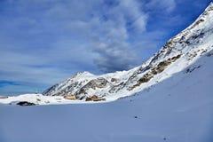 Winter landscape at Balea Lac Stock Photos