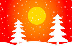 Winter landscape. Winter landscape with falling snow Royalty Free Stock Photography