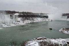 Winter Landscape of the Falls. Niagara Falls in the Winter royalty free stock photography