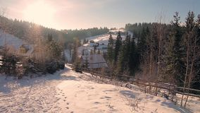 Winter landscape. stock video footage