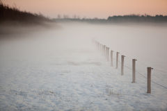 Mistic winter landscape Royalty Free Stock Photo