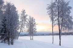 Winter landscape in Finland Stock Photography