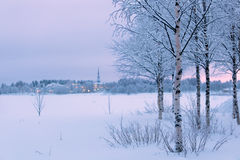 Winter landscape in Finland Royalty Free Stock Photos