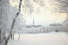 Winter landscape in Finland Royalty Free Stock Photo