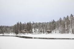 Winter landscape of Finnish lapland. Winter landscape of Oulanka National Park in Finnish Lapland Royalty Free Stock Photos