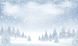 Free Winter Landscape Forest Snow Snowflakes Stock Photo - 203235150