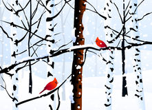 Winter Landscape ( Forest ) - Vector. Winter Landscape ( Forest ) is a  illustration Stock Photography