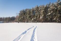Winter Landscape. Frosty morning, winter Royalty Free Stock Photo