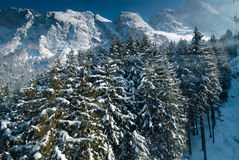 Winter landscape in Germany, Allgau Stock Photo